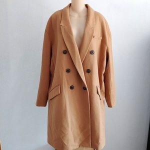 Banana Republic Wool Blend Double Breasted Coat XL